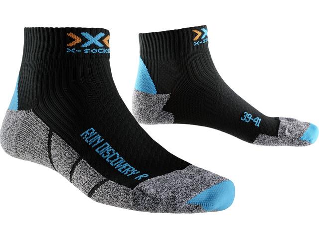 X-Socks Run Discovery New Socken Damen black/turquoise/grey mouliné